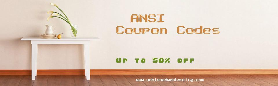 ANSI coupons
