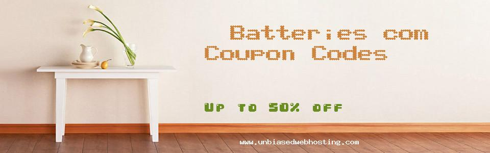 Batteries.com coupons