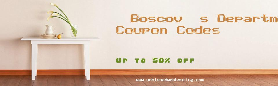 Boscov's Department Stores coupons