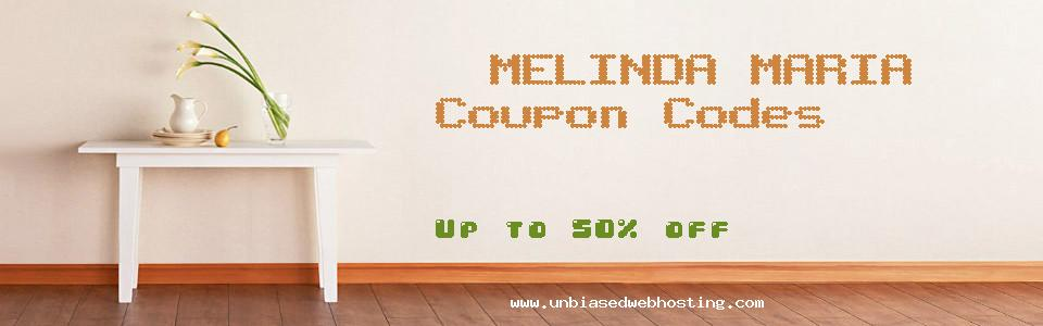 MELINDA MARIA coupons